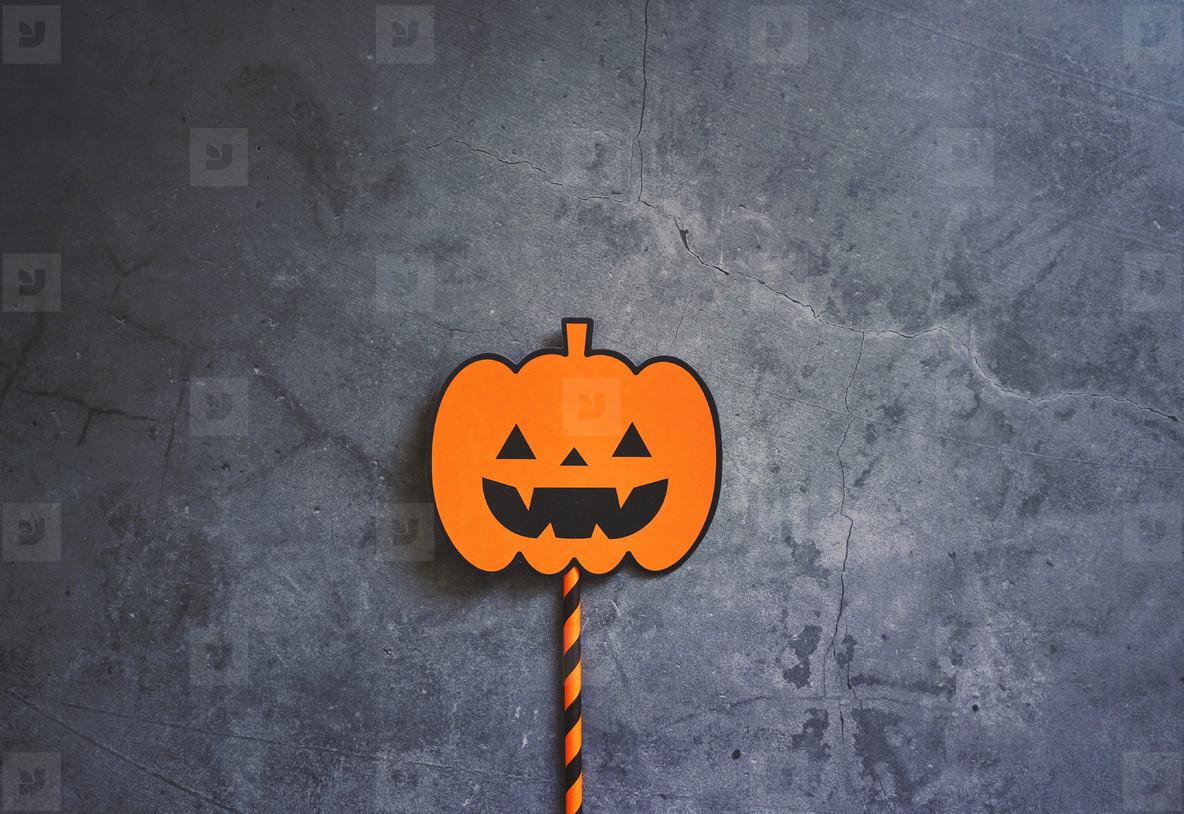 Flat lay of halloween prop