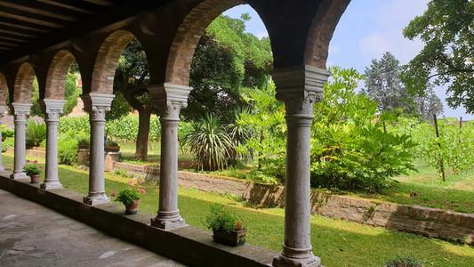 Arcade of the garden Venice