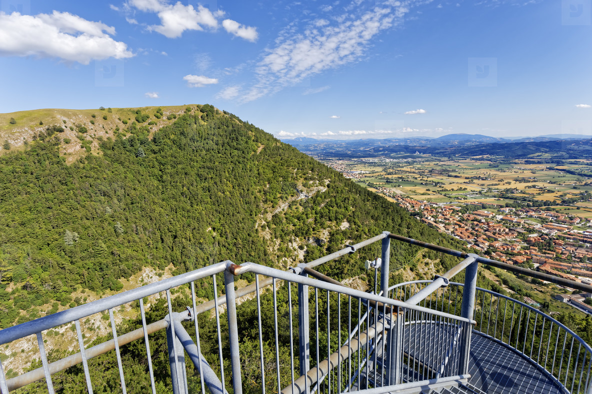 View from Gubbio cable car