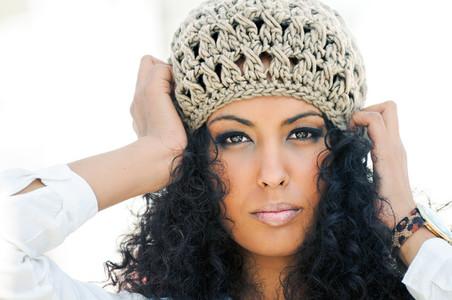 Black woman outdoors