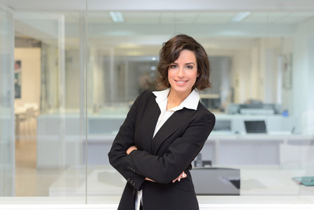 Business woman in a office Crossed arms