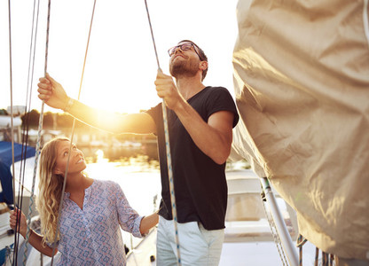 Couple on Their Sail Boat