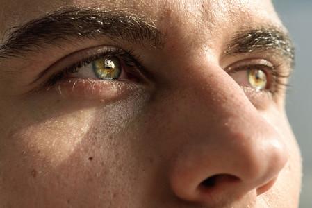 Macro shot of mans eye