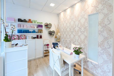 Reception of beauty  wellness and spa salon
