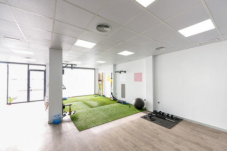 Physiotherapy clinic with equipment for rehabilitation