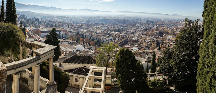 Panoramic view of the city of Granada