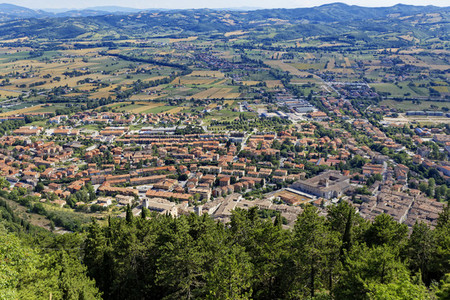 View of Gubbio Italy