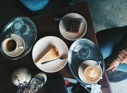 Sweet pleasure at coffeeshop