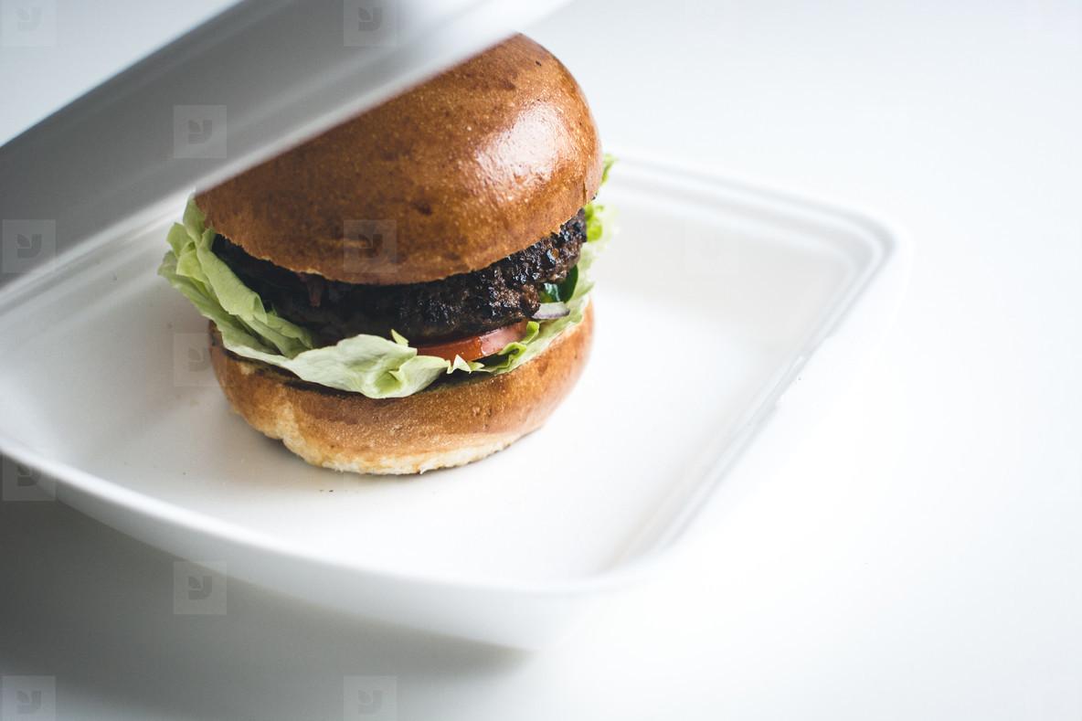 Take away burger