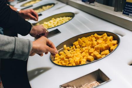 Tasting cheese samples