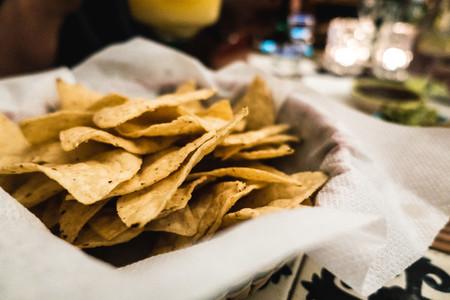 Tortilla chips close up