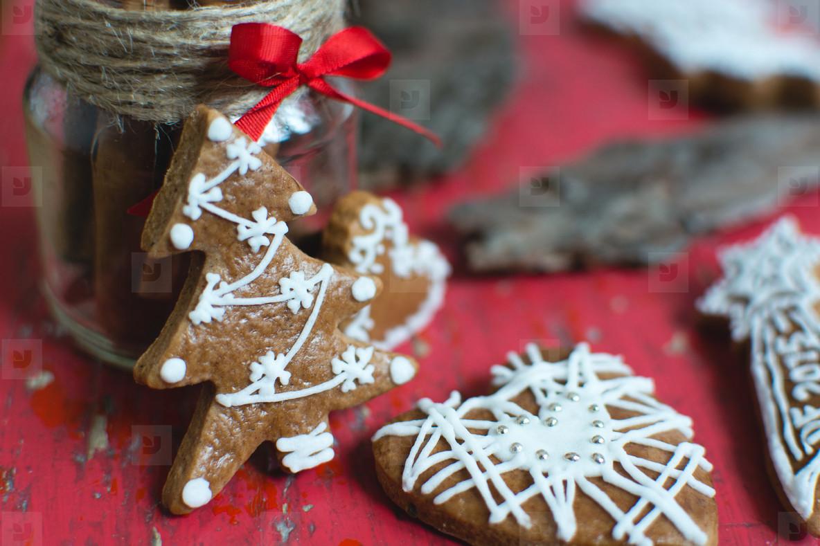 Christmas cinnamon gingerbread