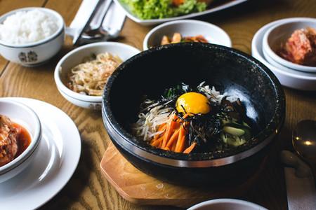 Korean Bibimbap vegetables with