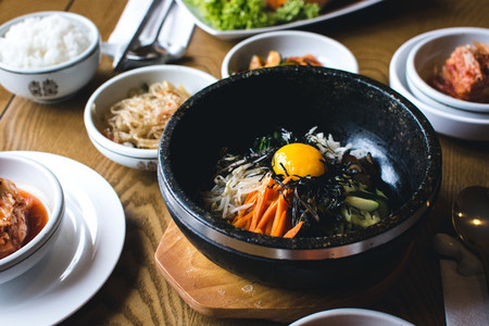 Korean Bibimbap vegetables with