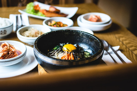 Korean Bibimbap vegetables