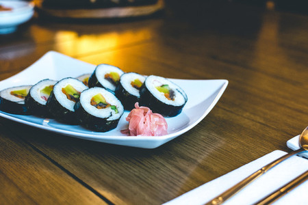 Korean Gimbap rice rolls