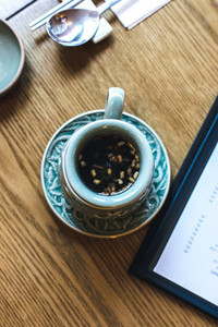 Korean tea on a wooden table
