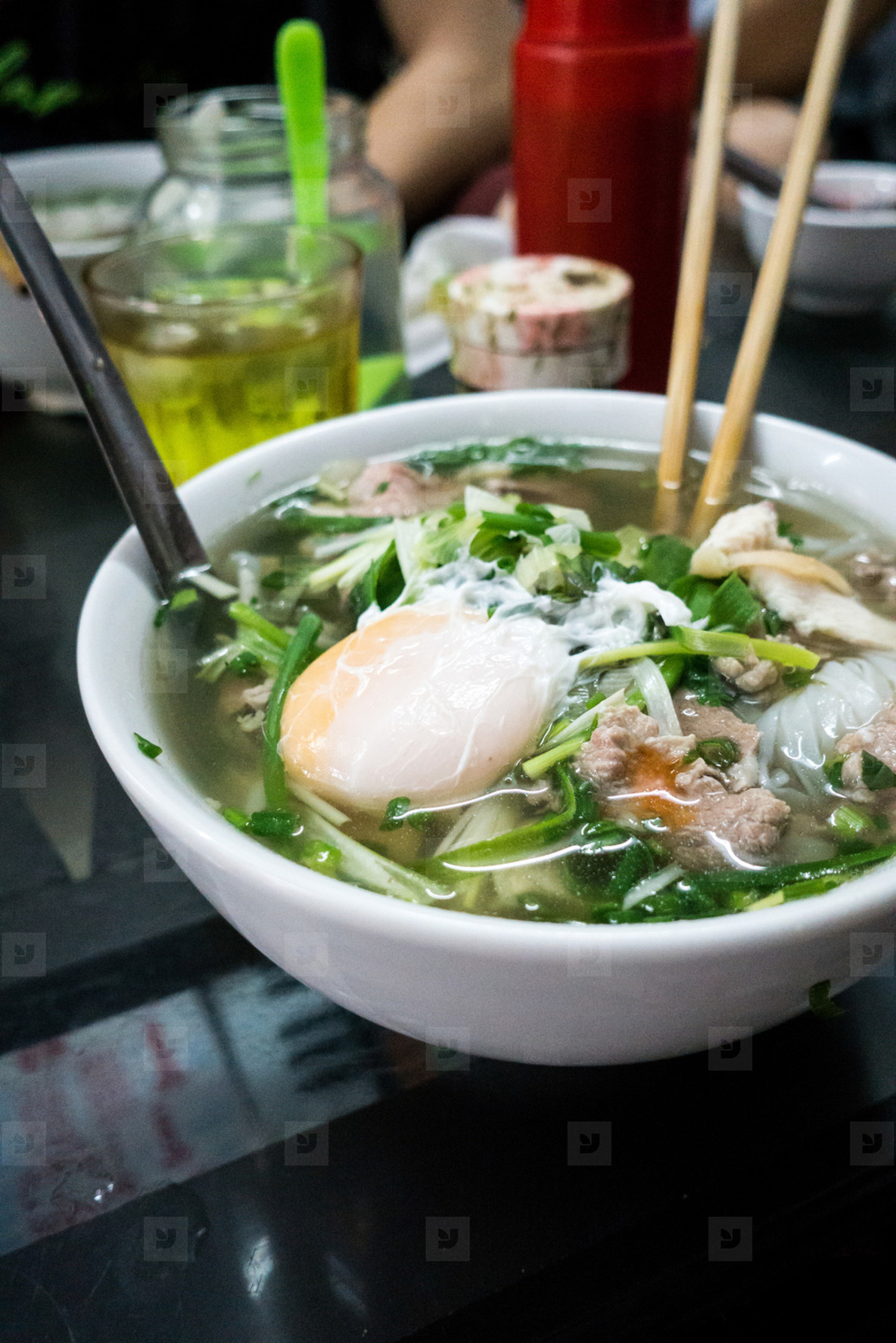Vietnamese Pho Bo noodle soup
