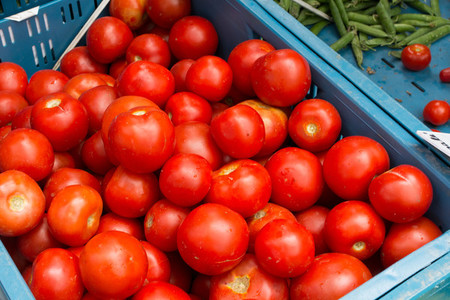 Vibrant red tomatoes for sale