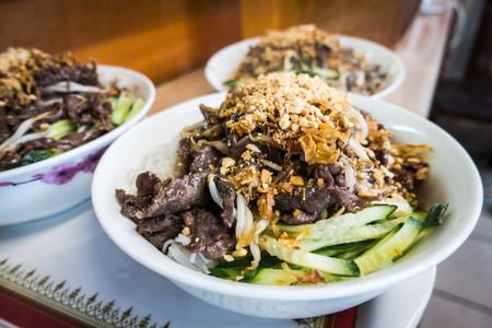 Vietnamese Bun Bo Nam Bo pork
