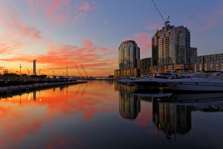 Sunset at Docklands