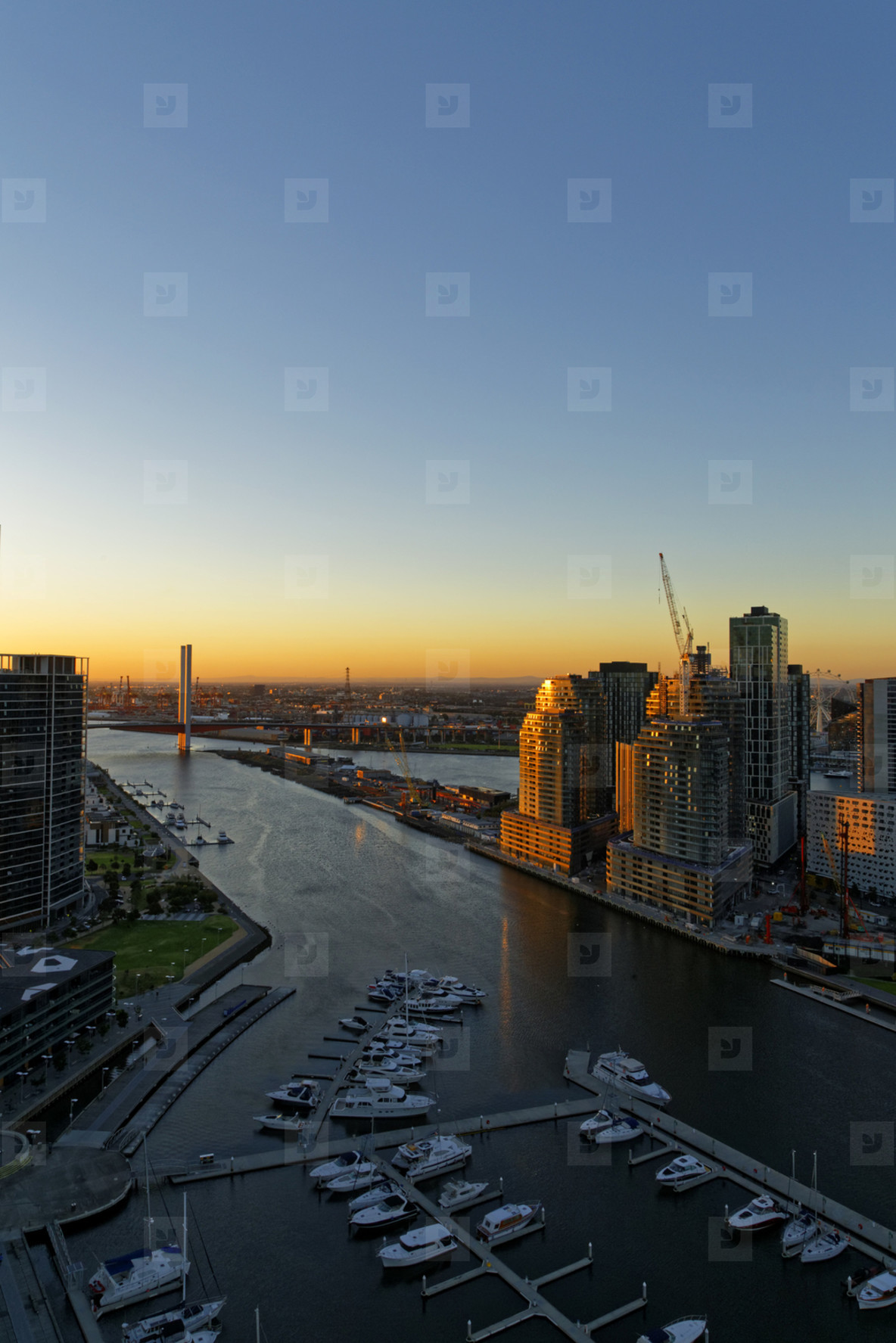 Sunset  Cityscape View Melbourne