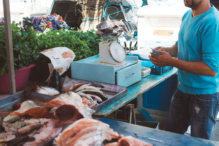 Stall at fish market