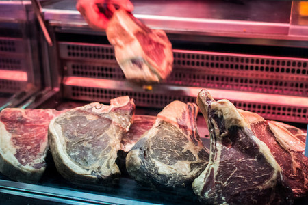 Steakhouse beef meat selection
