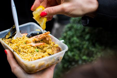 Street food Spanish seafood