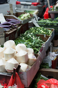 Street stall with vegetables