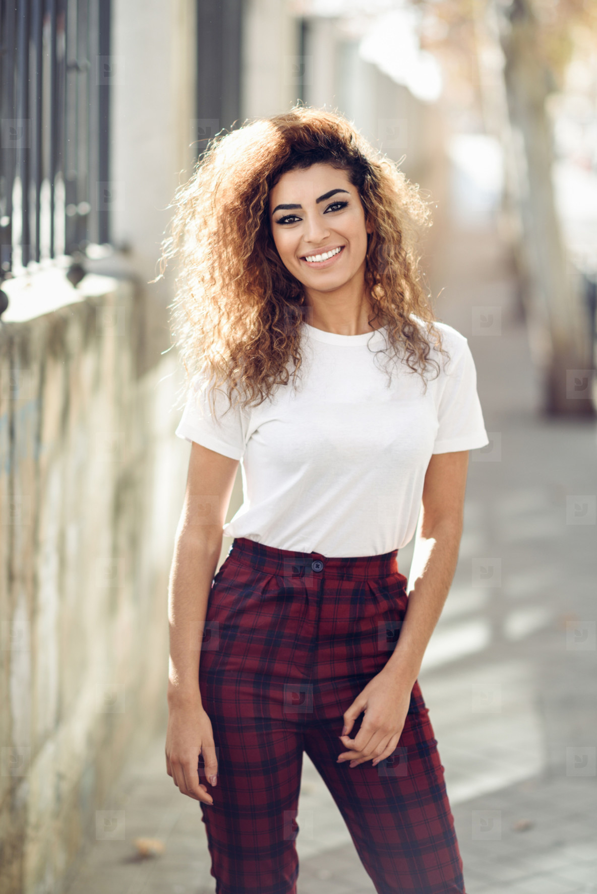 Arab girl in casual clothes in the street