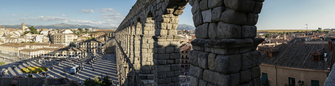 Panoramic view of Segovia and its Aqueduct