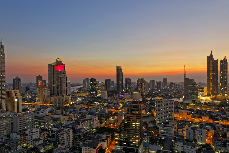 Cityscape  Icon Siam at Sunset