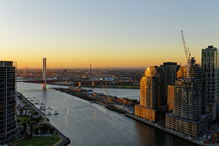 Cityscape View Melbourne CBD