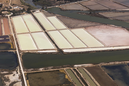 Aerial view rural crops Faro Algarve Portugal