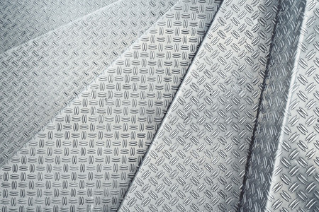 Channeled metal sheet texture