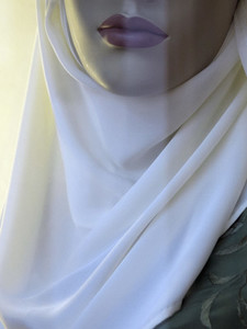 Close up mannequin wearing hijab