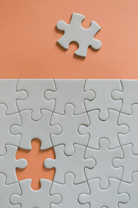 Final missing jigsaw puzzle piece