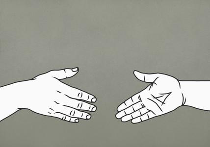 Hands reaching for handshake