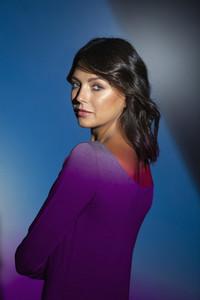 Portrait confident  beautiful woman 02