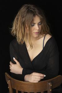 Portrait serene  beautiful young woman
