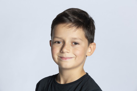 Portrait smiling boy