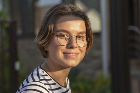 Portrait smiling  beautiful young woman