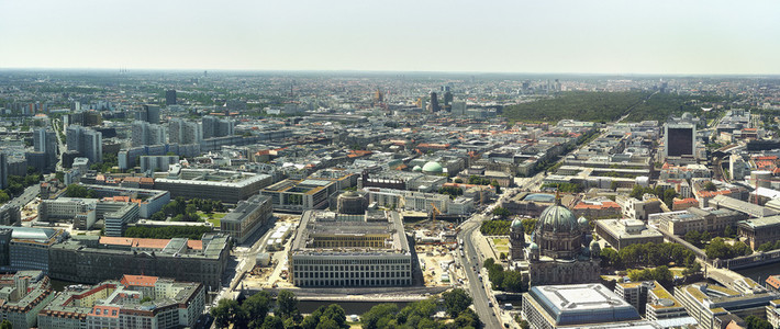 Scenic  sunny cityscape  Berlin West  Germany