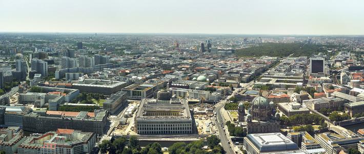 Scenic sunny cityscape Berlin West Germany