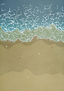 Seashells on ocean beach