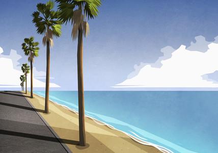Sunny idyllic tropical ocean