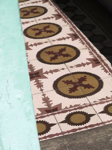 Sunshine on patterned tiles Santa Cruz de La Palma Spain