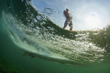 Surfboard under ocean surface 01