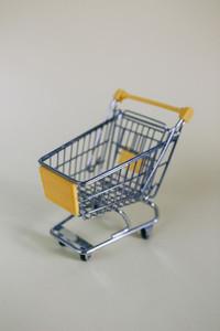 Tiny toy shopping cart 02